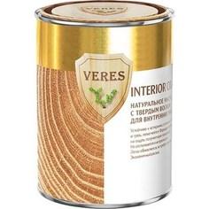 Масло для древесины VERES OIL INTERIOR с воском для внутр.работ № 1 бесцветный 0.9л.