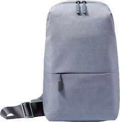 "Рюкзак XIAOMI Mi City Sling Bag 10"" полиэстер светло-серый [zjb4070gl]"