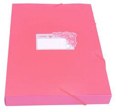 Папка-короб на резинке Бюрократ Tropic -TR520PINK пластик 0.7мм корешок 40мм A4 розовый