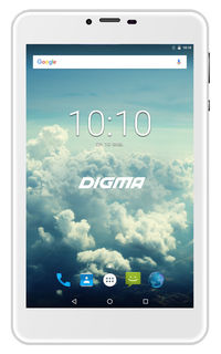 "Планшет Digma Plane 7563N 4G MTK8735 4C/1Gb/16Gb 7"" IPS 1280x800/3G/4G/And7.0/серебристый/BT/GPS/2Mp [ps7178ml]"