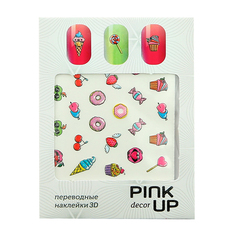Наклейки для ногтей переводные PINK UP NAIL DESIGN тон 569