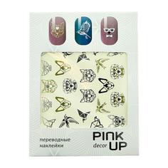 Наклейки для ногтей переводные PINK UP NAIL DESIGN тон 572