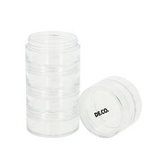 Набор дорожных флаконов для кремов и косметики DE.CO. 5 шт Deco