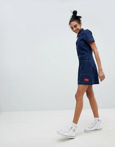Джинсовое платье на молнии Calvin Klein Jeans - Синий