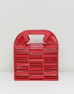 Клатч из бамбука ASOS DESIGN - Красный