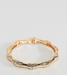 Золотистый браслет с фактурной отделкой в винтажном стиле ASOS DESIGN Curve - Золотой