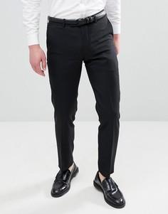 Облегающие брюки из 50% шерсти Harry Brown - Черный