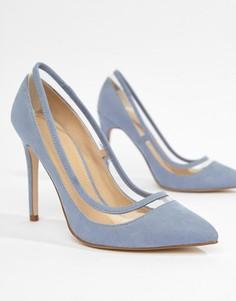 Туфли на каблуке с острым носком ASOS DESIGN Paphos - Синий