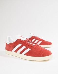 Красные замшевые кроссовки adidas Originals Gazelle B37944 - Красный