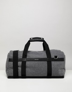 Серая сумка с ручками из искусственной кожи ASOS DESIGN - Серый