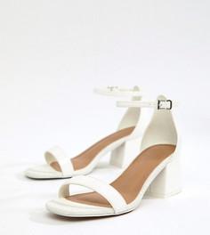 Босоножки для широкой стопы на каблуке ASOS DESIGN Honeydew - Белый