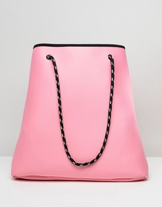 Двусторонняя сумка-шоппер со съемным клатчем ASOS DESIGN - Розовый