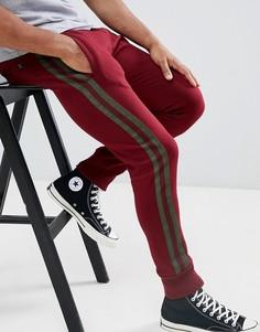 Джоггеры с полосками по бокам Le Breve - Красный