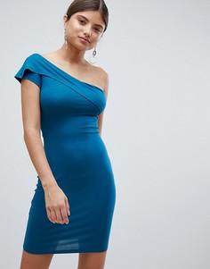 Платье с открытыми плечами Missguided - Зеленый