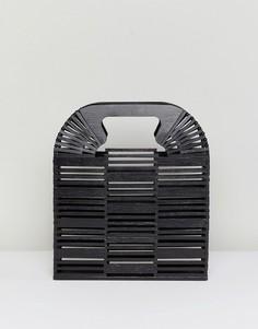 Клатч из бамбука ASOS DESIGN - Черный