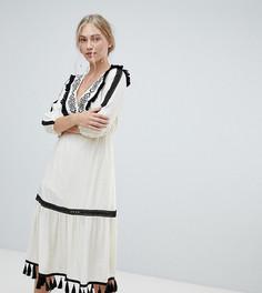 Платье мини с вышивкой Stevie May - Кремовый