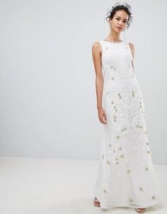 Платье макси с отделкой Frock & Frill - Белый