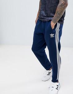 Темно-синие джоггеры с 3 полосками adidas Originals DJ2118 - Темно-синий