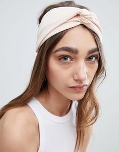 Широкая повязка на голову с узлом Johnny Loves Rosie Blush - Розовый