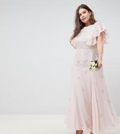 Платье макси ASOS DESIGN Curve - Розовый