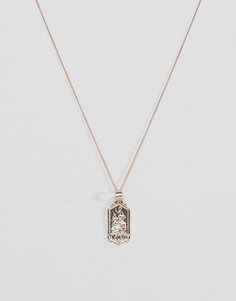 Chained & Able mini st christopher tag necklace in gold - Золотой
