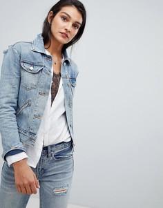 Джинсовая куртка светлого оттенка индиго AllSaints - Синий