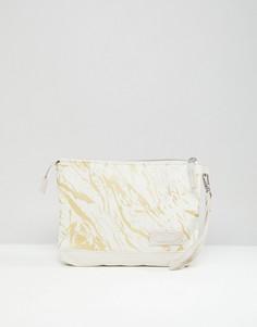 Уплотненный чехол для планшета цвета белого мрамора Eastpak - Белый