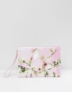 Чехол для планшета с цветочным принтом Ted Baker - Розовый