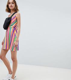 Платье в полоску со свободным воротом Reclaimed Vintage Inspired - Мульти