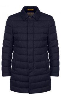 Стеганая куртка на молнии из смеси шерсти и шелка Canali