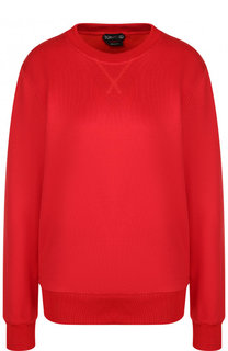 Однотонный пуловер из смеси хлопка и шелка Tom Ford