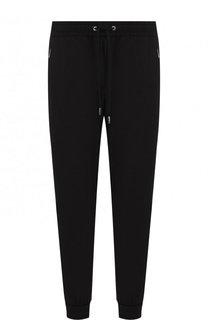 Хлопковые брюки прямого кроя с манжетами Dolce & Gabbana