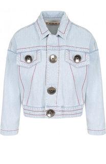 Джинсовая куртка с контрастной прострочкой Marni