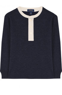Хлопковый лонгслив с контрастной отделкой Polo Ralph Lauren