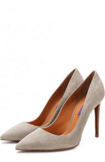 Замшевые туфли на шпильке Ralph Lauren