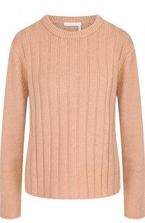 Однотонный кашемировый пуловер с круглым вырезом Chloé