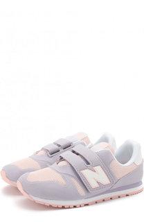 Комбинированные кроссовки 373 с застежками велькро New Balance