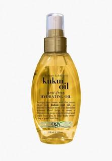 Масло для волос Johnson & Johnson OGX спрей для увлажнения и гладкости с маслом гавайского ореха (кукуи), 118 мл