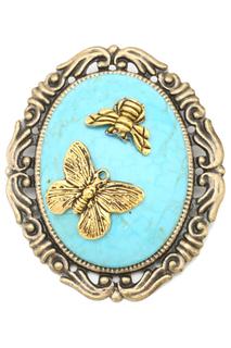 """Брошь """"Бабочка и пчелка"""" Beatrici Lux"""