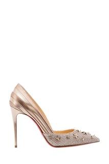 Золотистые туфли со звездами Wonder Pump 100 Christian Louboutin
