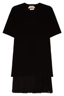 Шерстяное платье с плиссировкой No21