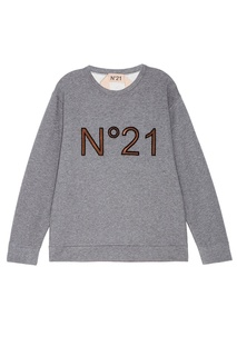 Серый свитшот с логотипом No21