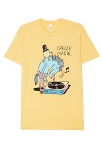 Желтая футболка из хлопка с принтом Jeremyville
