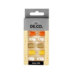 Набор накладных ногтей DE.CO. SUMMERTIME sun star 24 шт + клеевые стикеры 24 шт Deco