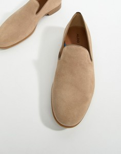 ALDO Tralisien slipper loafers in beige - Бежевый