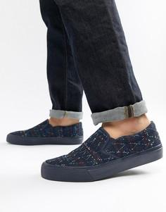 Джинсовые кеды слипоны с вышивкой ASOS DESIGN - Синий