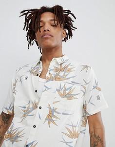 Rollas bon short sleeve shirt tropical bamboo print - Белый