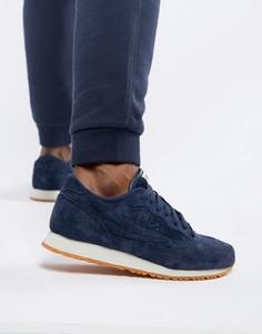 Темно-синие замшевые кроссовки Fila Euro Jogger II - Темно-синий