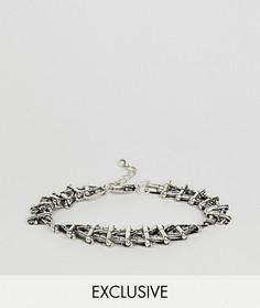 Серебристый браслет-цепочка Reclaimed Vintage Inspired эксклюзивно для ASOS - Серебряный