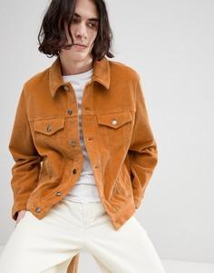 Вельветовая куртка горчичного цвета в стиле вестерн ASOS DESIGN - Желтый